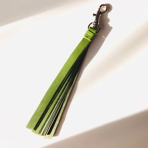 Leather Tassle Keychain